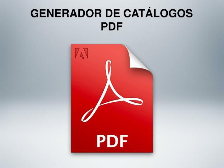 GENERADOR DE CATÁLOGOS