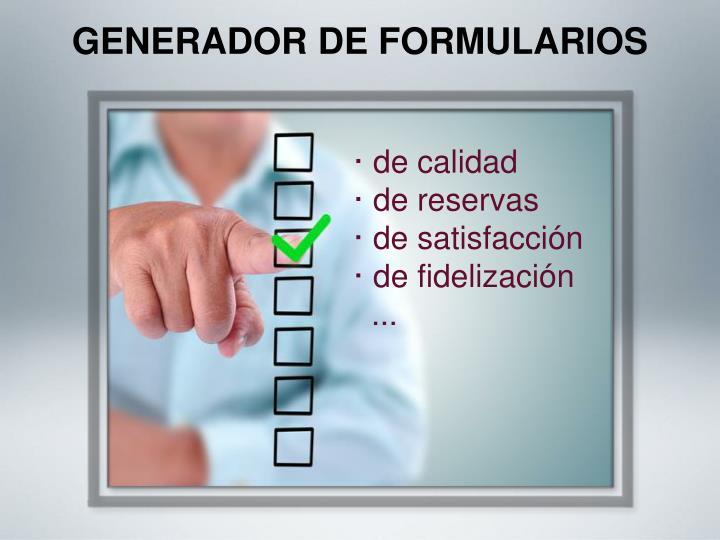 GENERADOR DE FORMULARIOS