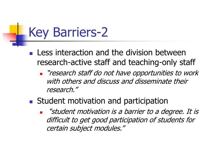 Key Barriers-2