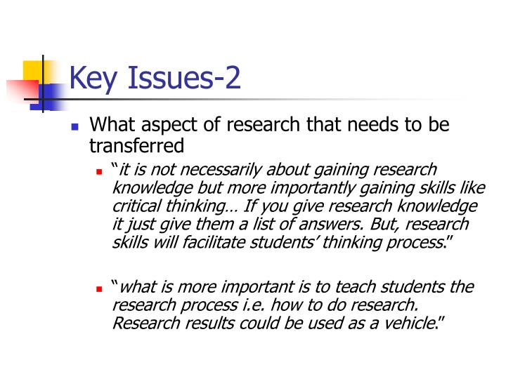 Key Issues-2