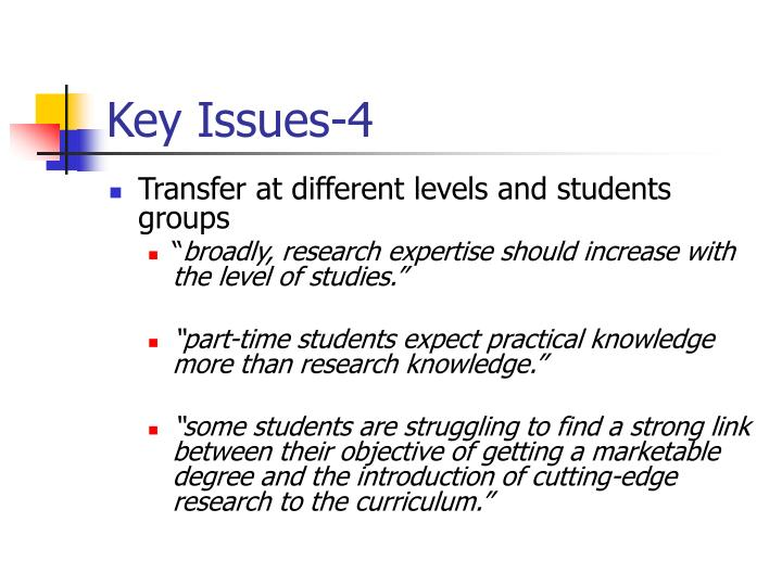 Key Issues-4