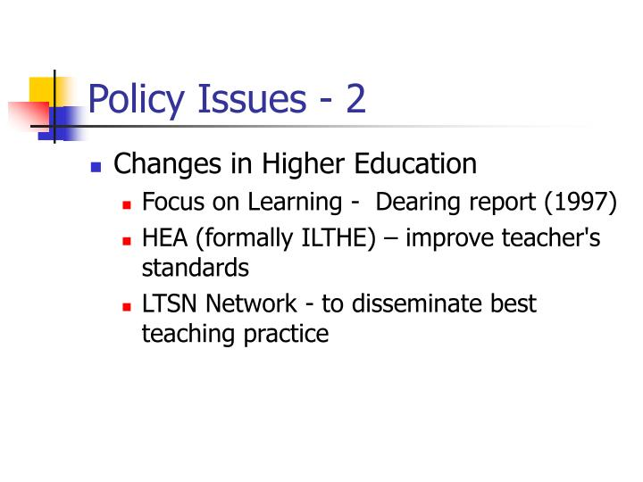 Policy Issues - 2