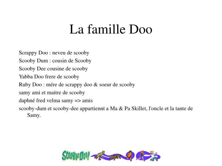 La famille Doo