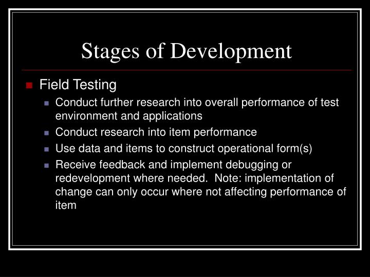 Stages of Development
