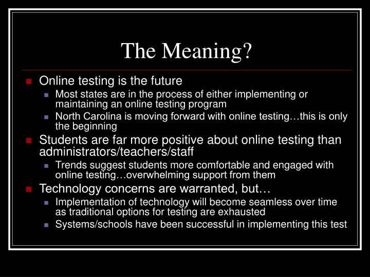 The Meaning?