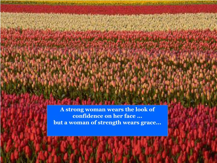 A strong woman wears the look of confidence on her face ...