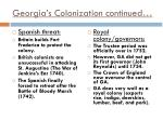 georgia s colonization continued1
