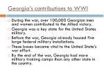 georgia s contributions to wwi1