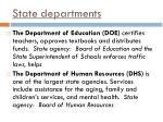 state departments