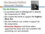 the georgia platform alexander stephen