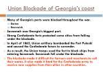 union blockade of georgia s coast