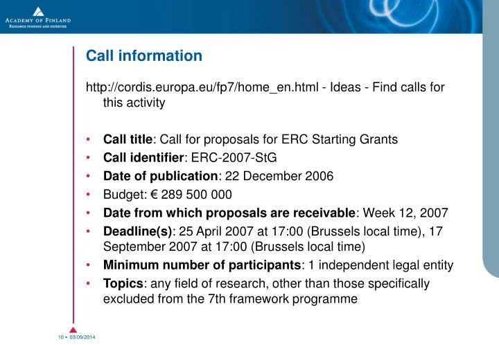Call information