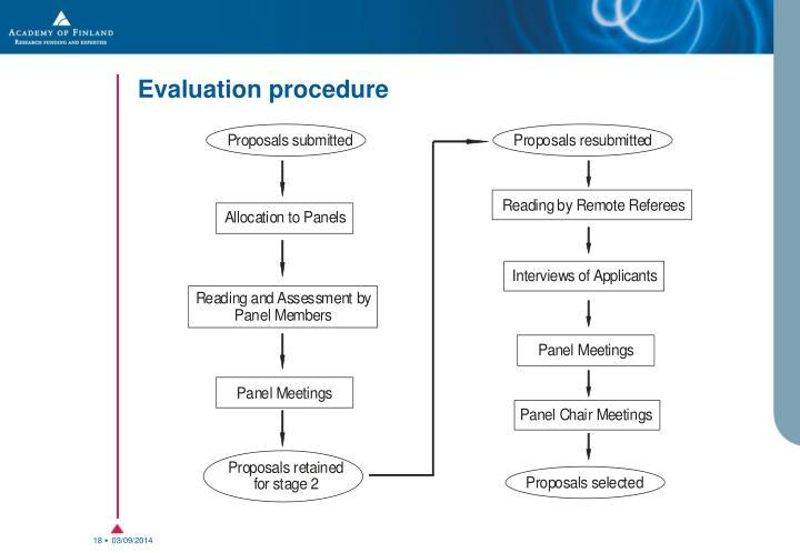 Evaluation procedure