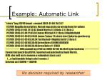 example automatic link