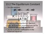 13 2 the equilibrium constant