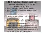 13 6 solving equilibrium problems a more complete set of steps to solve equilibrium problems