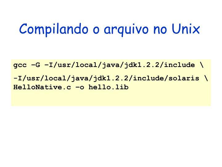 Compilando o arquivo no Unix