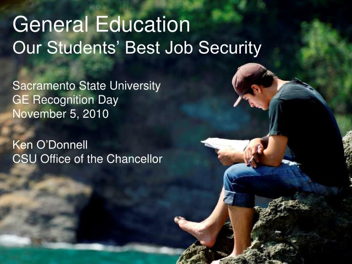 general education our students best job security n.
