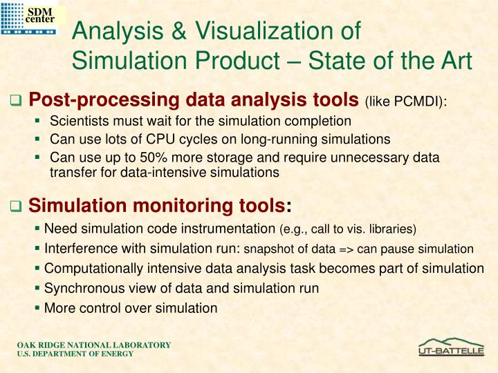 Analysis & Visualization of Simulation Product – State of the Art