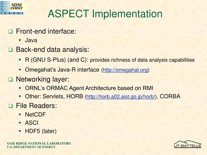ASPECT Implementation