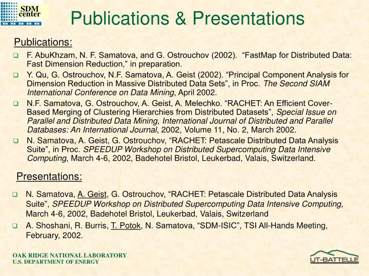 """F. AbuKhzam, N. F. Samatova, and G. Ostrouchov (2002).  """"FastMap for Distributed Data: Fast Dimension Reduction,"""" in preparation."""