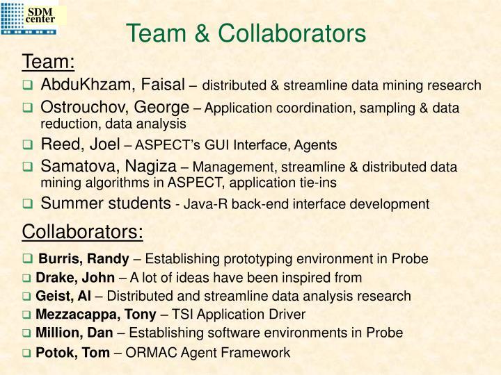Team collaborators