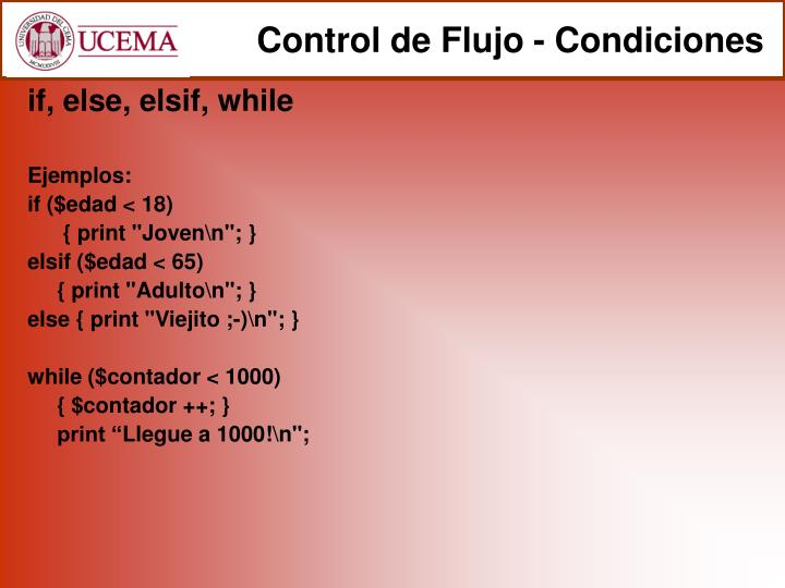 Control de Flujo - Condiciones