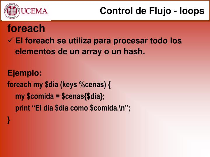 Control de Flujo - loops