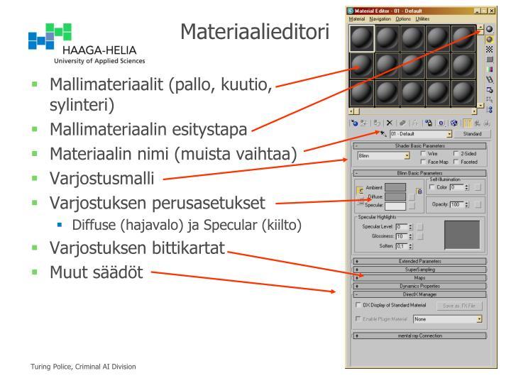 Materiaalieditori