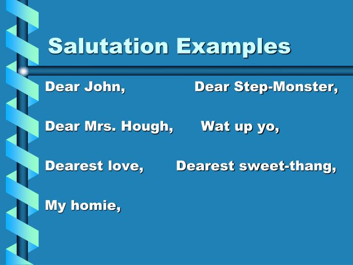 Salutation Examples