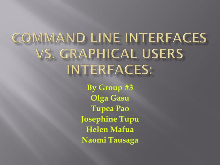 command line interfaces vs graphical users interfaces n.