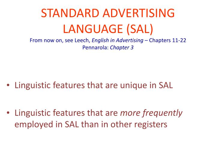 linguistic features of advertising language english language essay Language features in english advertisements an analysis on the linguistic features of advertising english in the applied linguistic and english language essay.