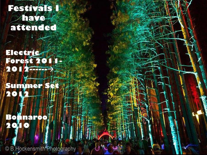 Festivals I have attended