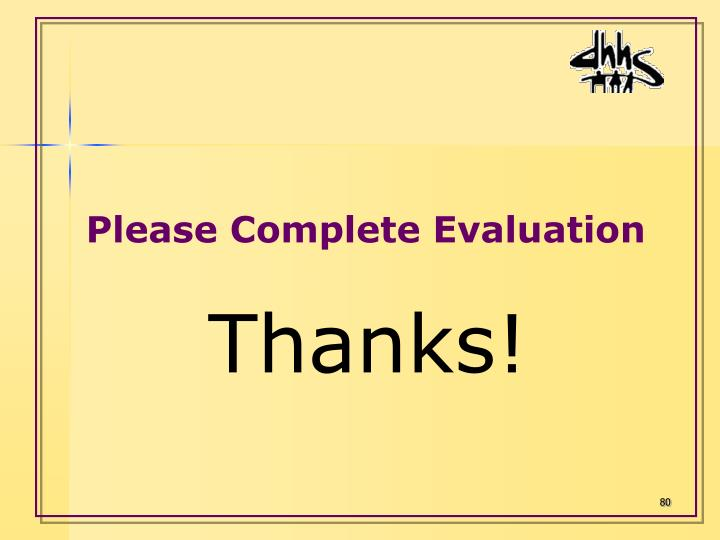 Please Complete Evaluation