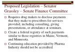 proposed legislation senator grassley senate finance committee