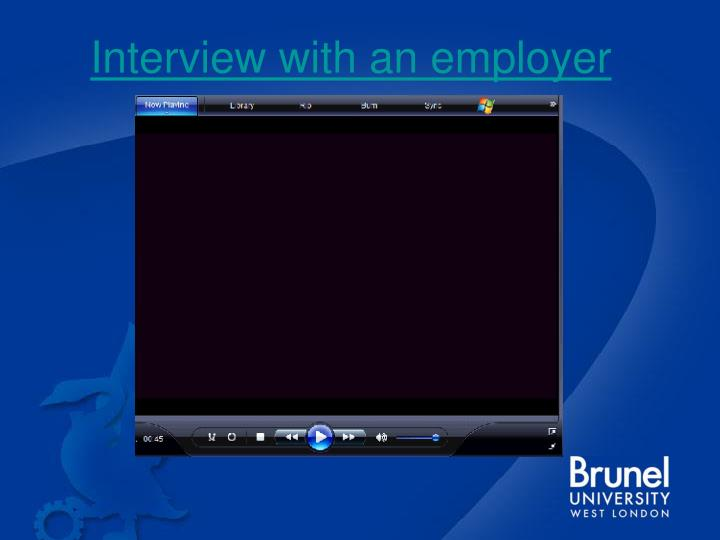 Interview with an employer