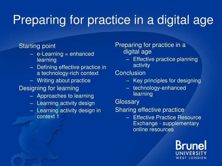 Preparing for practice in a digital age