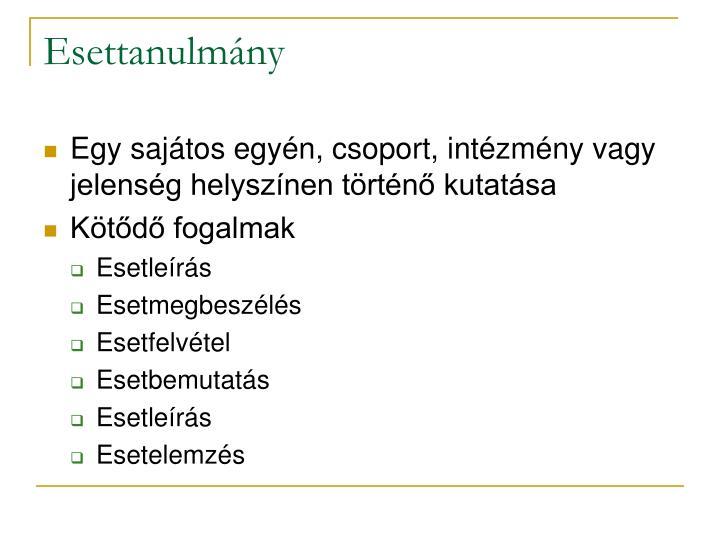 Esettanulm ny1