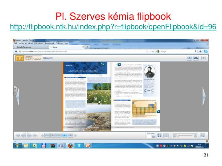 Pl. Szerves kémia flipbook