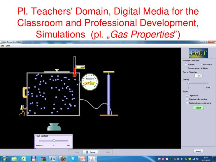 "Pl. Teachers' Domain, Digital Media for the Classroom and Professional Development, Simulations  (pl. """