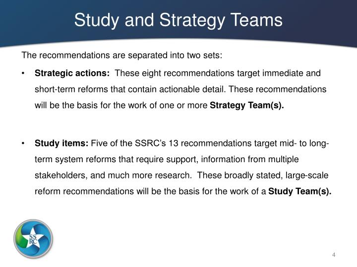 Study and Strategy Teams