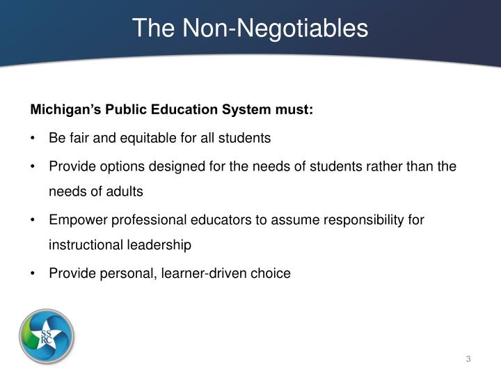 The non negotiables