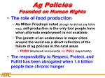 ag policies founded on human rights1