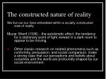 the constructed nature of reality