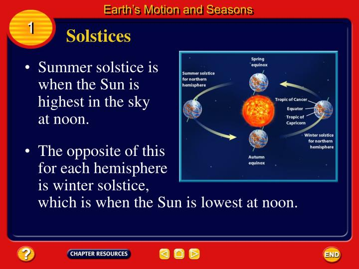 Earth's Motion and Seasons