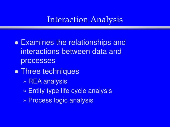 Interaction Analysis