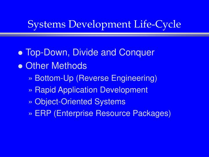 Systems Development Life-Cycle