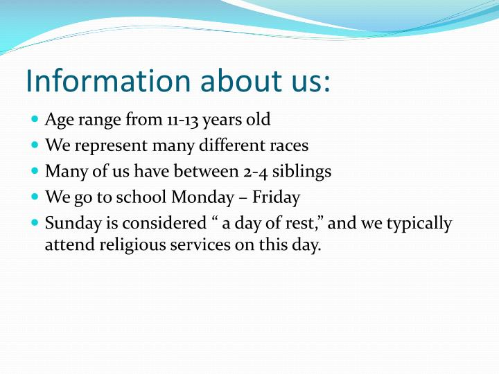 Information about us