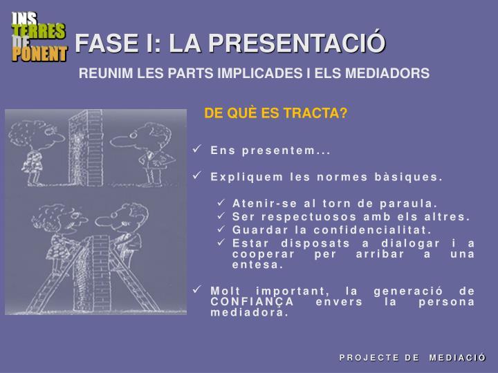 FASE I: LA PRESENTACIÓ