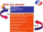 ntes our clientele